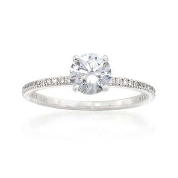 Simon G. .15 ct. t.w. Diamond Engagement Ring Setting in 18kt White Gold, , default