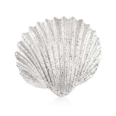 Italian Sterling Silver Sparkle Seashell Ring