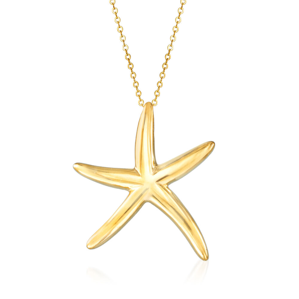 Italian 14kt Yellow Gold Starfish