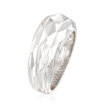 """Andrea Candela """"Facetas"""" Sterling Silver Wide Ring. Size 6, , default"""