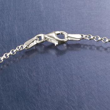 Sterling Silver Script Monogram Rolo Chain Bracelet, , default