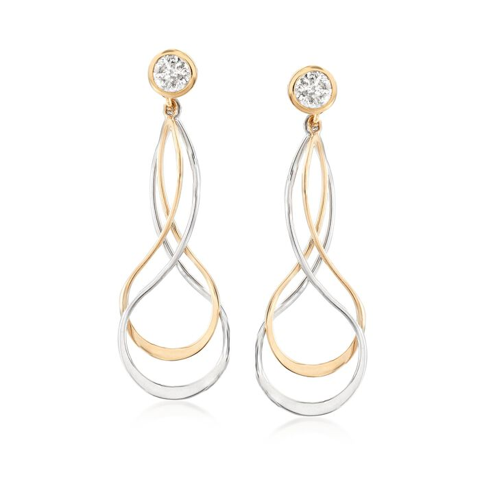 Sterling Silver and 14kt Yellow Gold Earring Jackets