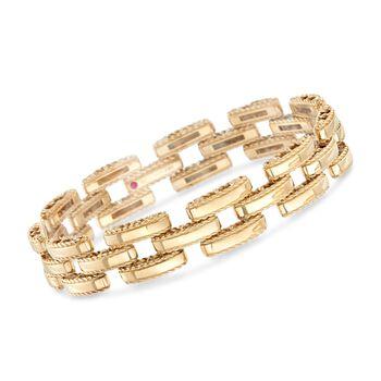 "Roberto Coin ""Retro"" 18kt Yellow Gold Link Bracelet. 7"", , default"
