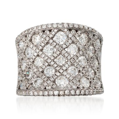 3.10 ct. t.w. Diamond Checkered Ring in 18kt White Gold, , default