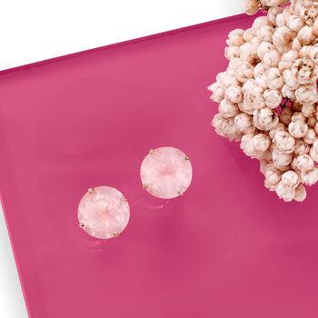 4.80 ct. t.w. Rose Quartz Stud Earrings in 14kt Rose Gold