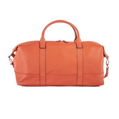 """Brouk & Co. """"Alexa"""" Faux Orange Leather Duffel Bag, , default"""