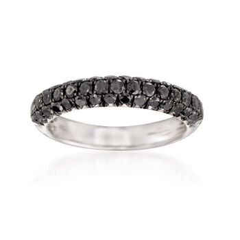 Henri Dausi 1.00 ct. t.w. Black Diamond Band in 14kt White Gold, , default