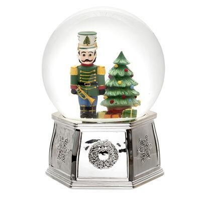 """Spode """"Christmas Tree"""" Musical Nutcracker Snow Globe"""