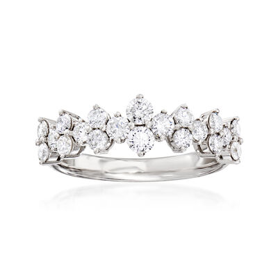 .96 ct. t.w. Diamond Ring in 18kt White Gold