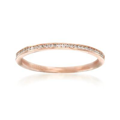 Henri Daussi .10 ct. t.w. Diamond Wedding Ring in 14kt Rose Gold, , default