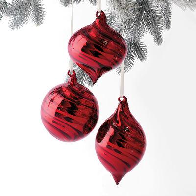Kurt Adler Red Glass Ornaments, , default