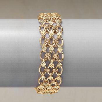 14kt Yellow Gold Multi-Oval Link Bracelet, , default