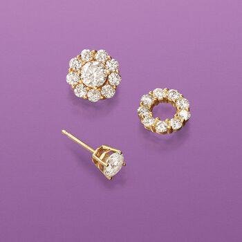 1.00 ct. t.w. Diamond Earring Jackets in 14kt Yellow Gold, , default