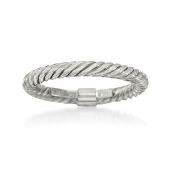 14kt White Gold Twisted Ring, , default