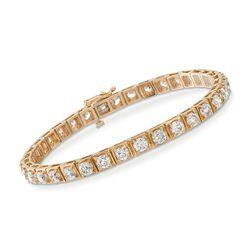 8.50 ct. t.w. Diamond Tennis Bracelet in 14kt Yellow Gold, , default
