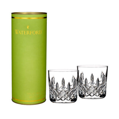 "Waterford Crystal ""Giftology"" Set of Two Lismore Lowball Glass Tumblers, , default"