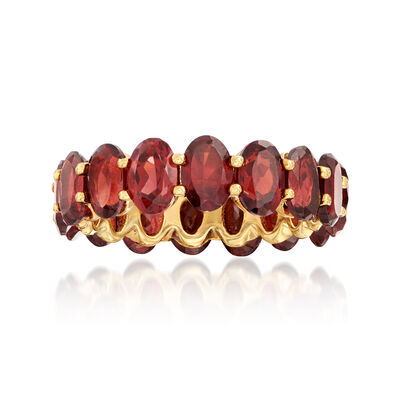 6.00 ct. t.w. Garnet Eternity Band in 18kt Gold Over Sterling, , default