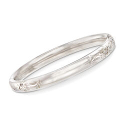 "Baby's Sterling Silver Bangle Bracelet. 4.5"", , default"