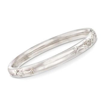 """Baby's Sterling Silver Bangle Bracelet. 4.5"""", , default"""