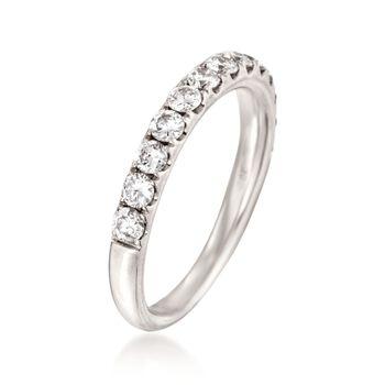 Henri Daussi .75 ct. t.w. Diamond Wedding Ring in Platinum. Size 6.5, , default