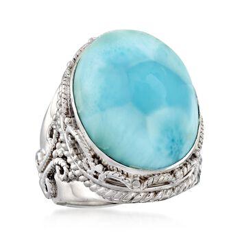 Larimar Ring in Sterling Silver, , default