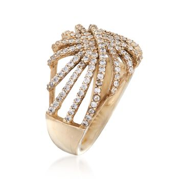 .80 ct. t.w. CZ Starburst Ring in 14kt Yellow Gold, , default