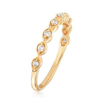 Henri Daussi .17 ct. t.w. Diamond Wedding Ring in 14kt Yellow Gold