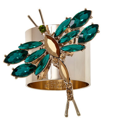 Joanna Buchanan Set of 2 Green Dragonfly Napkin Rings, , default