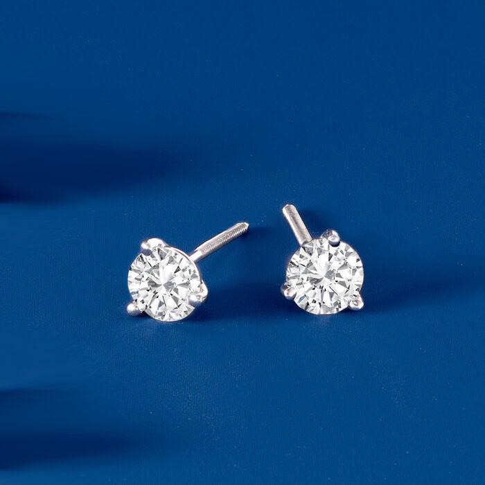 1.50 ct. t.w. Diamond Martini Stud Earrings in Platinum