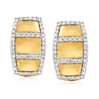 .50 ct. t.w. Diamond Border Drop Earrings in 14kt Yellow Gold