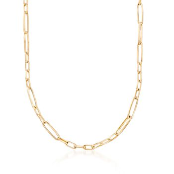 "Roberto Coin 18kt Yellow Gold Link Necklace. 27"", , default"