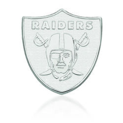 Sterling Silver NFL Oakland Raiders Lapel Pin, , default