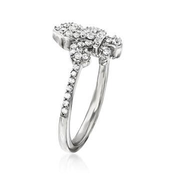 .33 ct. t.w. Diamond Fleur-De-Lis Ring in Sterling Silver, , default