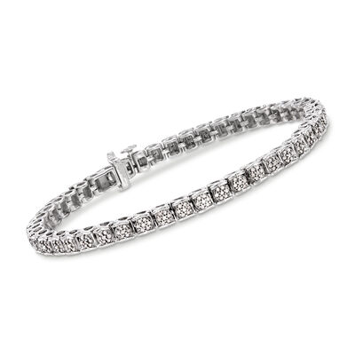 1.00 ct. t.w. Diamond Bracelet in Sterling Silver
