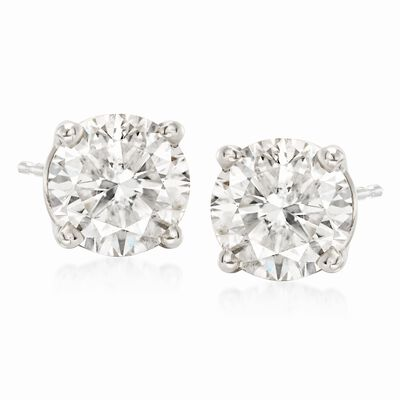 3.00 ct. t.w. Diamond Stud Earrings in Platinum