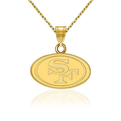 14kt Yellow Gold NFL San Francisco 49ers Pendant Necklace. 18""