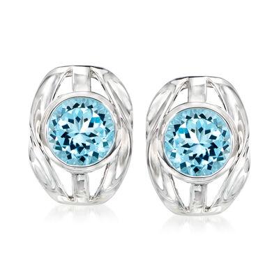 9.00 ct. t.w. Sky Blue Topaz Earrings in Sterling Silver