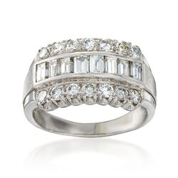 C. 1980 Vintage 1.85 ct. t.w. Diamond Ring in 14kt White Gold, , default