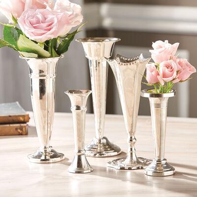 """""""Plaza"""" Set of Five Floral Vases, , default"""