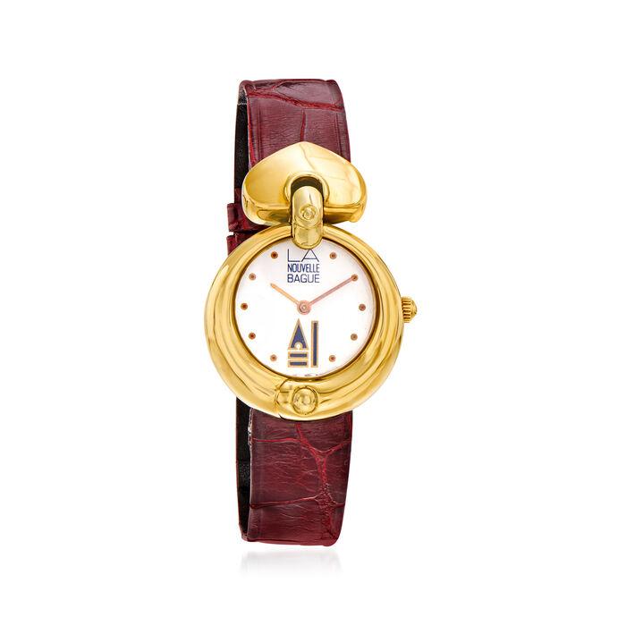C. 1980 Vintage Nouvelle Bague Women's 28mm 18kt Two-Tone Gold Watch. Size 8