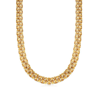 C. 1970 Vintage 14kt Yellow Gold Link-Chain Necklace, , default