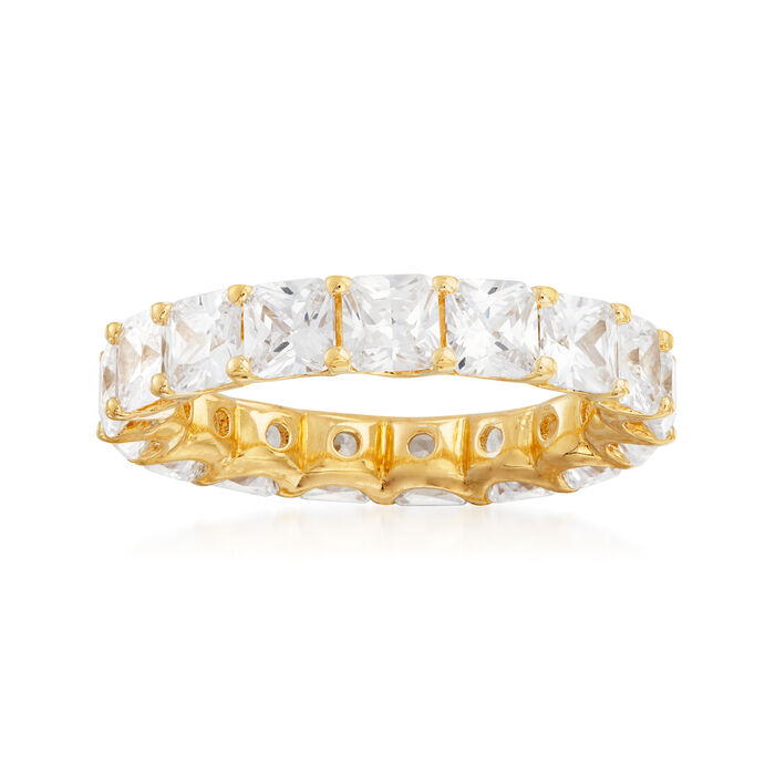 4.25 ct. t.w. CZ Eternity Band in 18kt Gold Over Sterling, , default