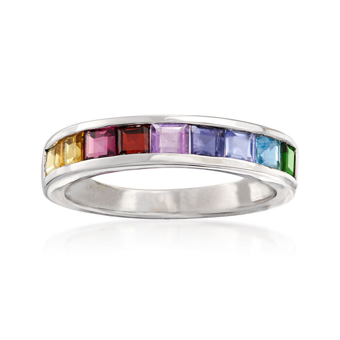 .90 ct. t.w. Multi-Gemstone Ring in Sterling Silver