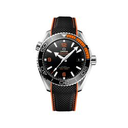 Omega Seamaster Planet Ocean Men's 43.5mm Stainless Steel Watch With Black and Orange Rubber Strap , , default