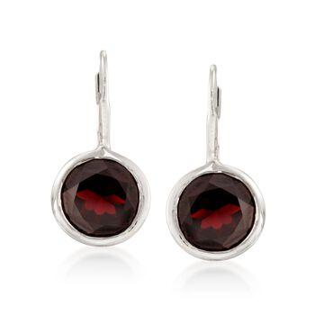11.00 ct. t.w. Bezel-Set Garnet Earrings in Sterling Silver, , default