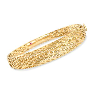 "Roberto Coin ""Silk"" 18kt Yellow Gold Bangle Bracelet, , default"