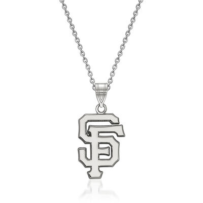Sterling Silver MLB San Francisco Giants Pendant Necklace. 18""
