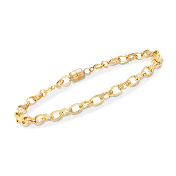 Italian 18kt Yellow Gold Magnetic Clasp Converter, , default