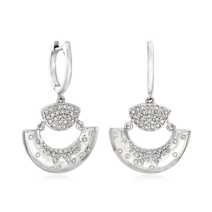 .65 ct. t.w. Diamond Fan Drop Earrings in Sterling Silver