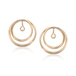14kt Yellow Gold Double Loop Circle Earring Jackets, , default